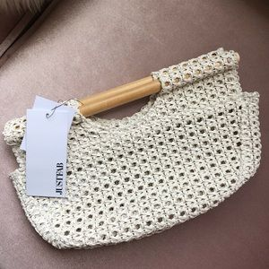 Just Fab Woven Clutch